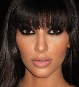 Kardashian Eyes on Smokey Eyes Kim Kardashian